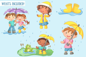 Spring Showers Clip Art Collection