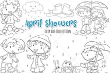 Load image into Gallery viewer, Spring Showers Digital Stamps