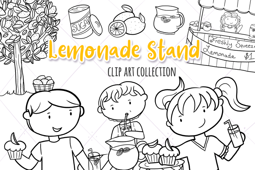 Lemonade Stand Digital Stamps