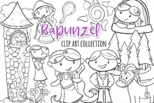 Load image into Gallery viewer, Rapunzel Digital Stamps