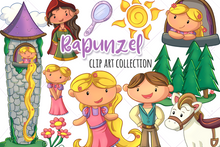 Load image into Gallery viewer, Rapunzel Clip Art Collection