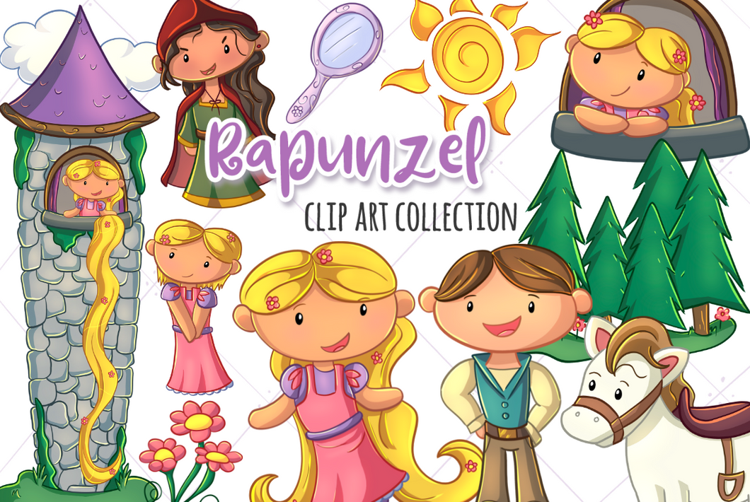Rapunzel Clip Art Collection