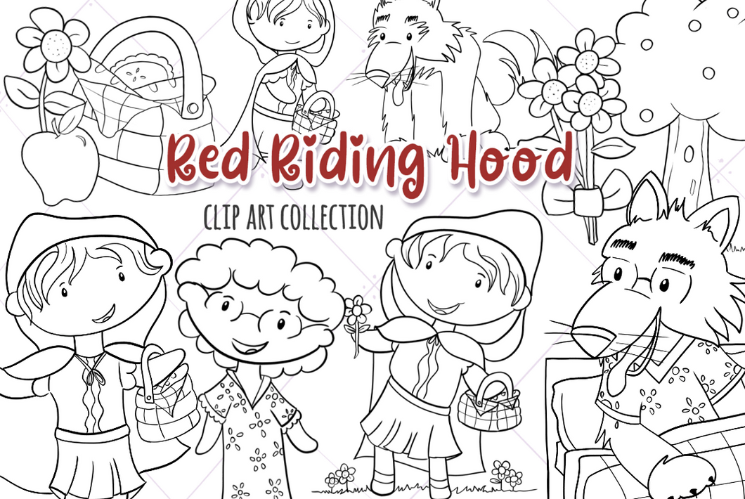 Little Red Riding Hood Digital Stamps