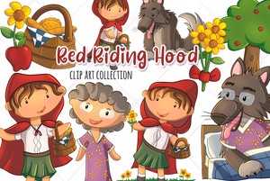 Little Red Riding Hood Clip Art Collection