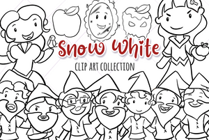 Snow White Digital Stamps
