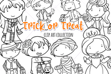 Load image into Gallery viewer, Trick or Treat Digital Stamps