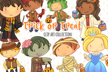 Load image into Gallery viewer, Trick or Treat Clip Art Collection