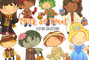 Trick or Treat Clip Art Collection