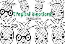 Load image into Gallery viewer, Tropical Emotions Digital Stamps