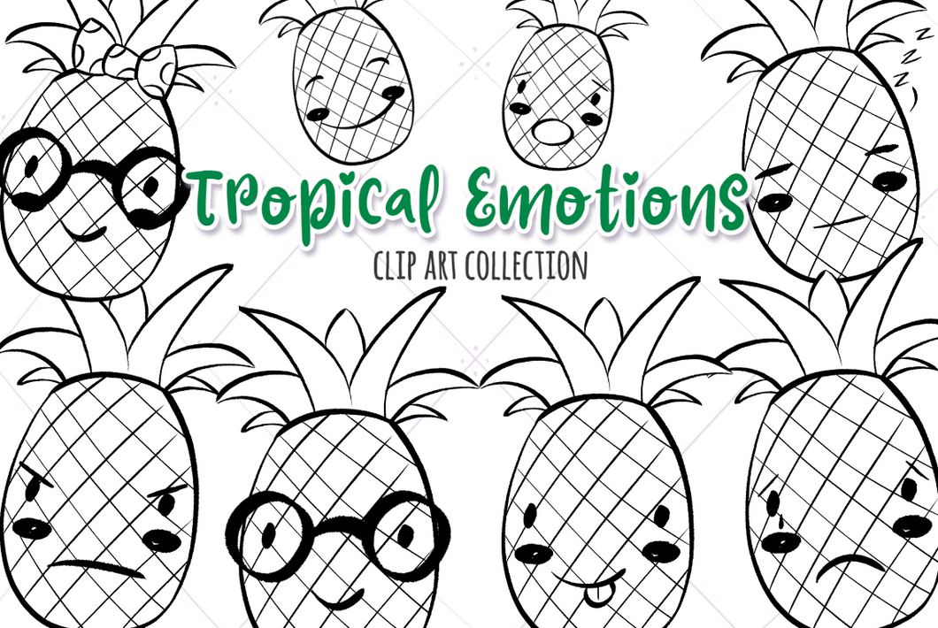 Tropical Emotions Digital Stamps