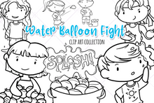 Load image into Gallery viewer, Water Balloon Fight Digital Stamps