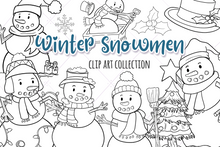 Load image into Gallery viewer, Winter Snowmen Digital Stamps
