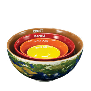 Earth Cross Section Nesting Bowls