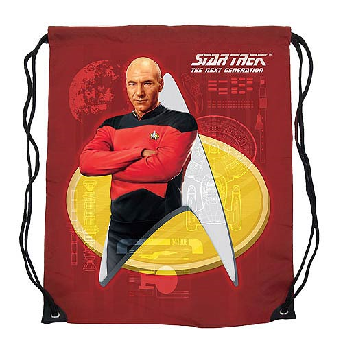 Star Trek TNG Captain Picard Cinch Bag