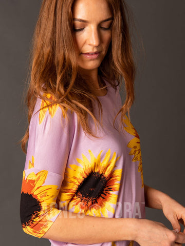 Dolman Tunic Modal Wild Sunflower