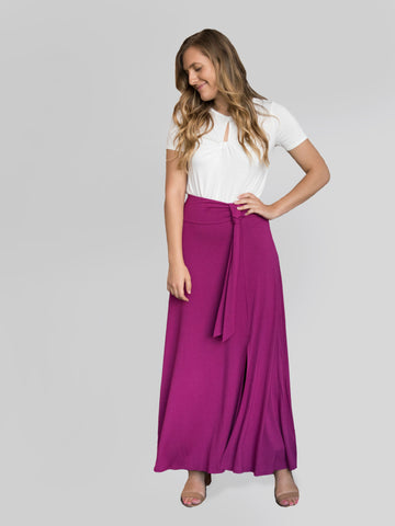 Wrap Maxi Skirt Wine
