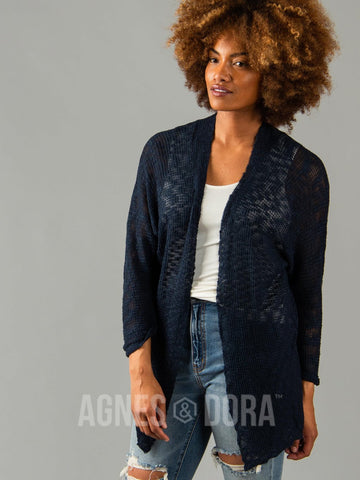 Agnes & Dora™ Breeze Cardi Deep Sea