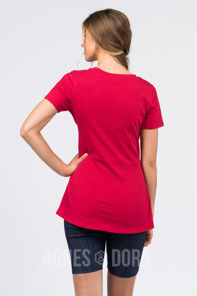 Agnes & Dora™ Side Seam Sash Top Amore Red