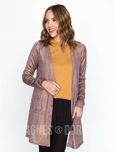 Agnes & Dora™ Sparkle Favorite Cardi Blush Gold