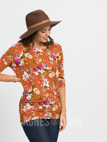 Agnes & Dora™ Dolman Tunic Organic Girl Copper