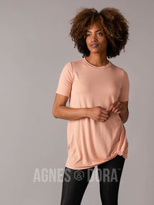 Side Knot Tunic Half Sleeve Canyon Rose