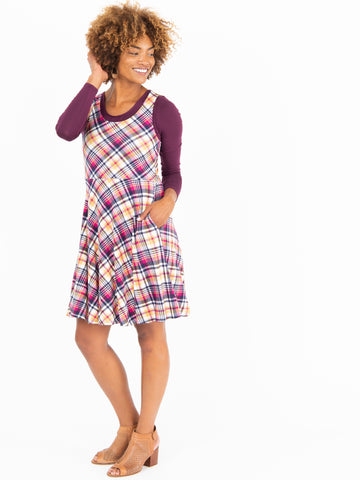 Fit & Flare Dress Classic Plaid - Large Scale