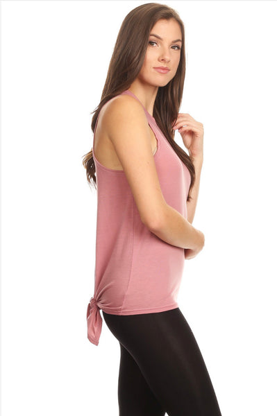 Tie Back Open Athletic Tank