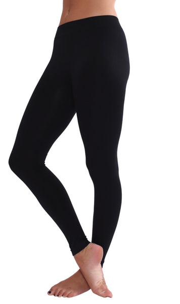 Soft Seamless Black Leggings One Size AND Plus!!