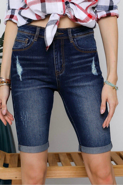 Casual Denim Bermuda Shorts S-L (Plus Size also available!!)