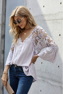 Crochet Lace Botton Top