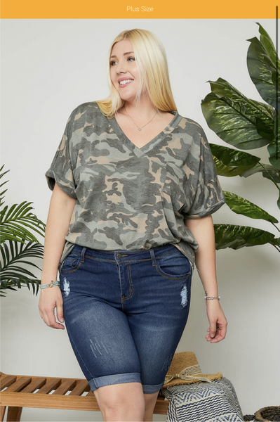 Casual Denim Bermuda Shorts Plus Size ( S-L also available!!)