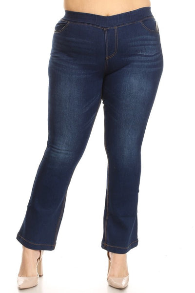 Boot Cut Jegging Dark Denim Plus