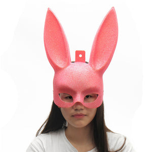 Cute Halloween Party Cosplay Fancy Rabbit Face Mask Decoration Props Toys