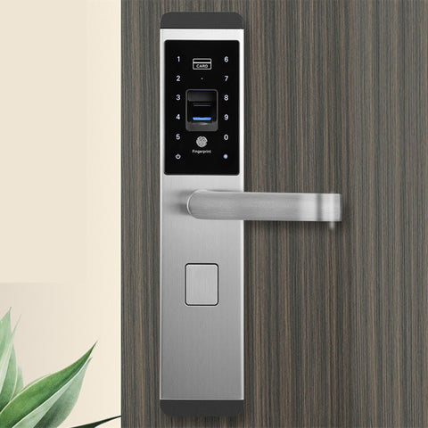 100 Groups Fingerprint Smart Door Lock Digital Password Touch Keyless Deadbolt Lock 5 Way