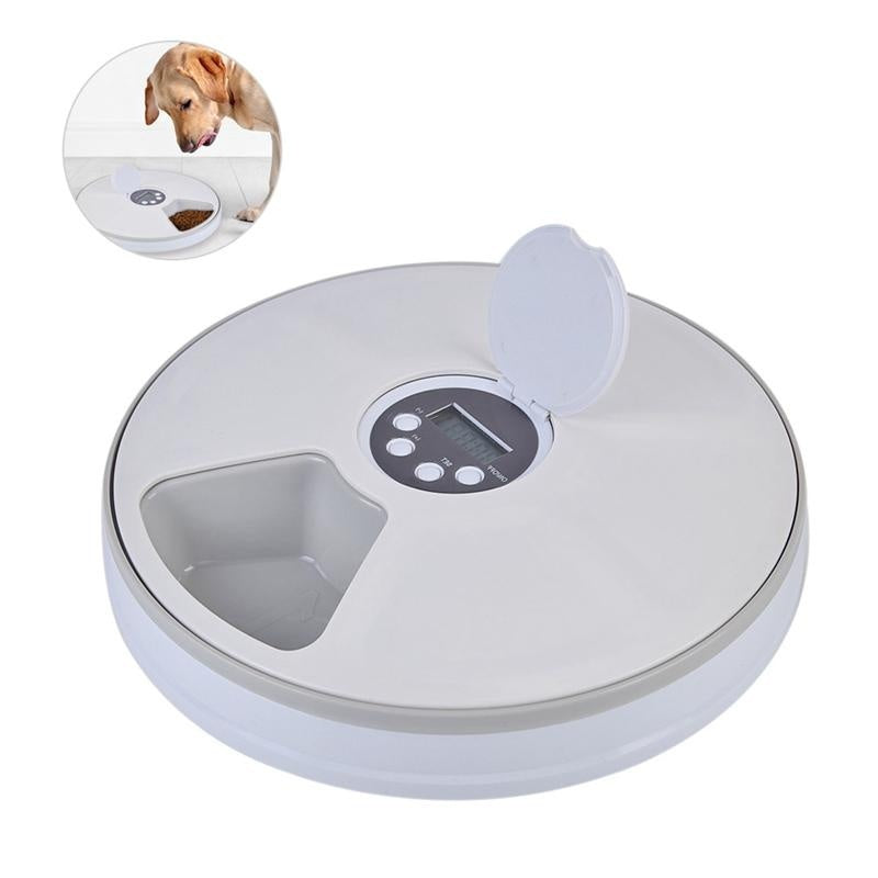 Automatic Pet Smart Feeder Timing Feeder 6 Meals 6 Grids Cat Dog Electric Dry