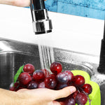 Oil Rubbed Bronze Kitchen Sink Faucet Single Handle Pull Down Sprayer Mixer Tap