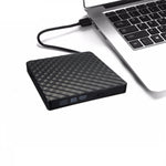 External USB3.0 DVD RW CD Writer Slim Optical Drive Burner Reader Player For PC Laptop