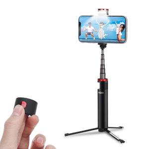 INSMA INS-10 All In One LED Fill Light Selfie Stick Extendable bluetooth Remote Control Tripod for Live Stream Phones Sport