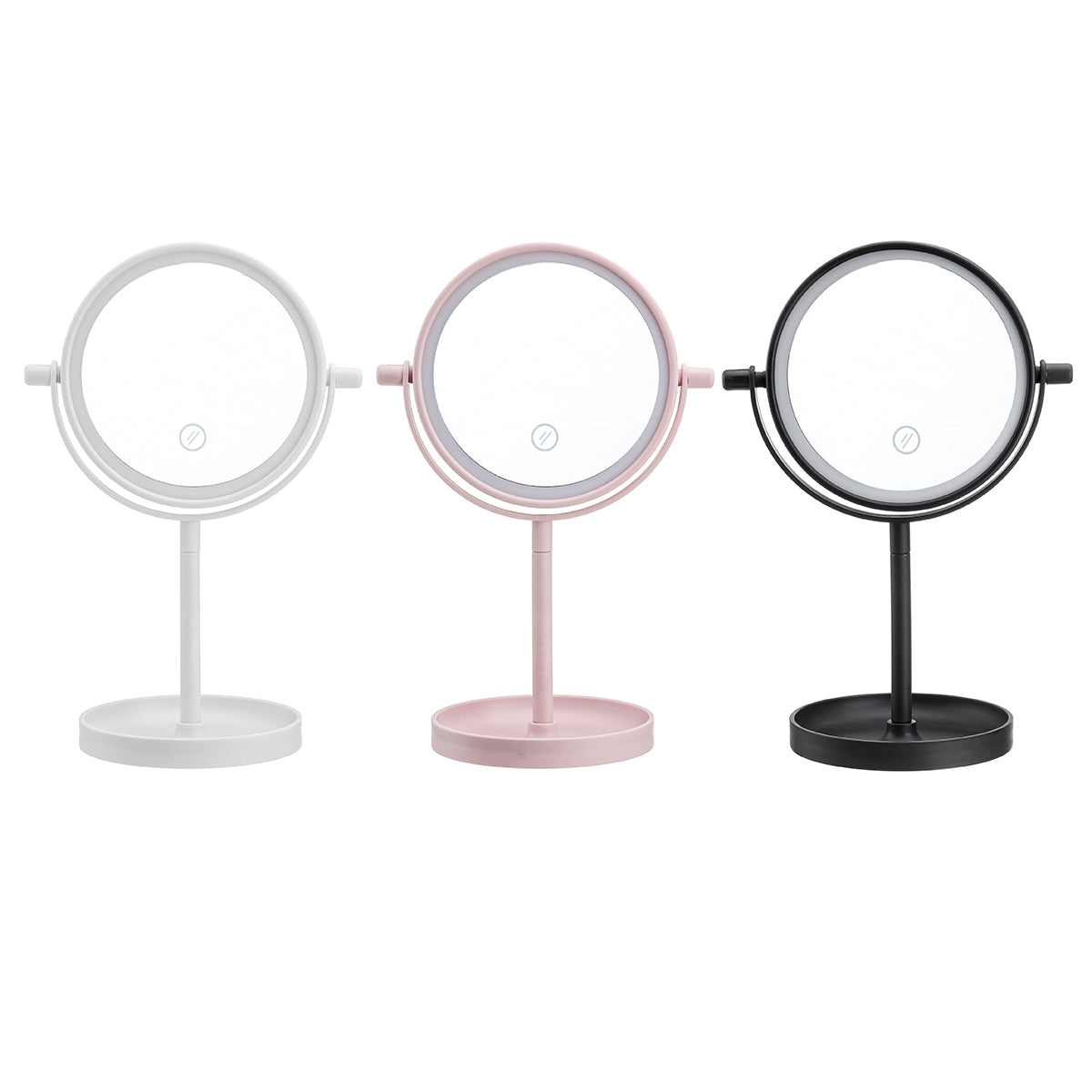 Portable 360° Rotaty 14 LED Light Makeup Mirrors Vanity Tabl