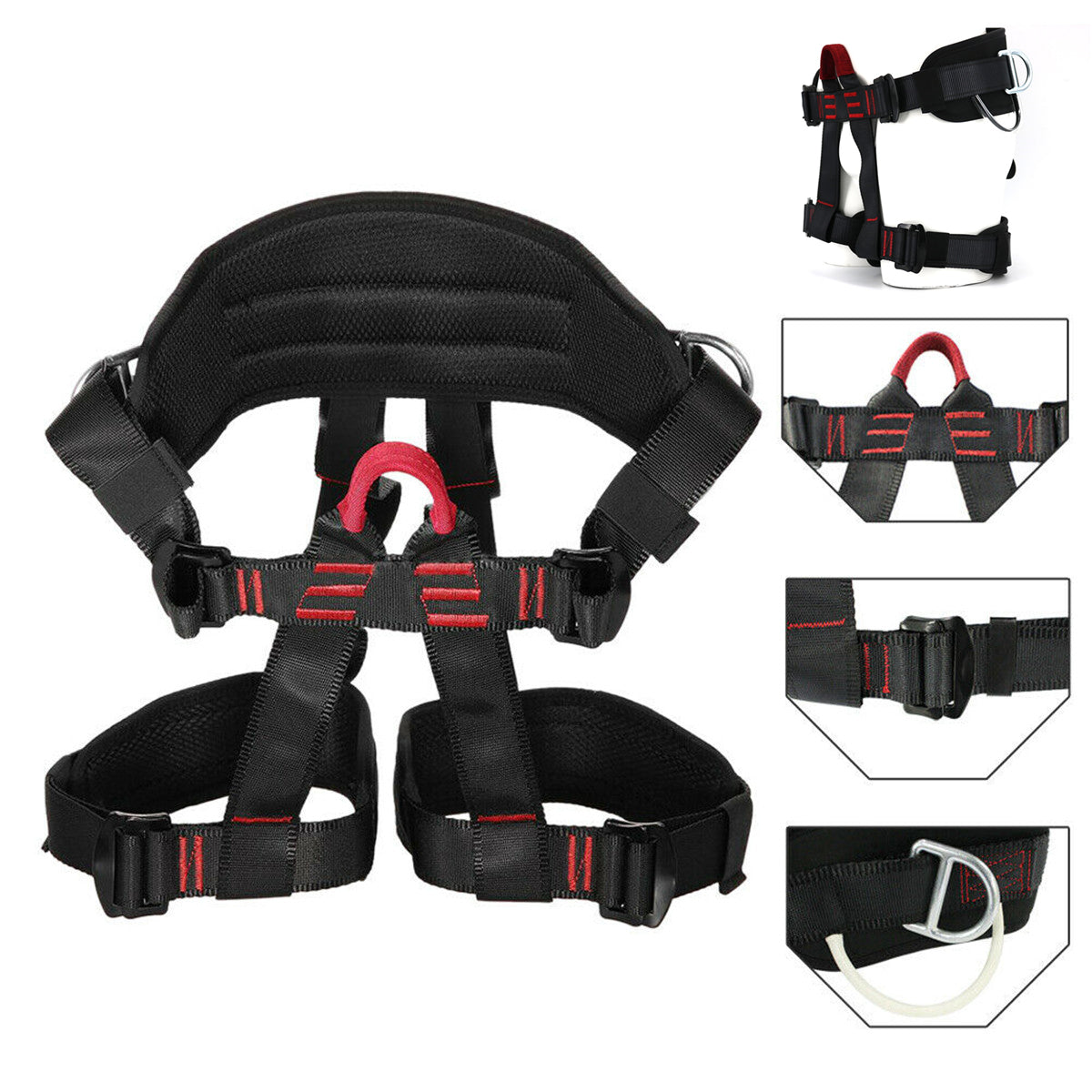 Tree Carving Rock Climbing Harness Equip Gear Rappel Rescue Safety Seat Belt