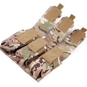 FAITH PRO Outdoor Camouflage Bag Molle Triple Magazine Pouch Mag Holder Accessory Bag