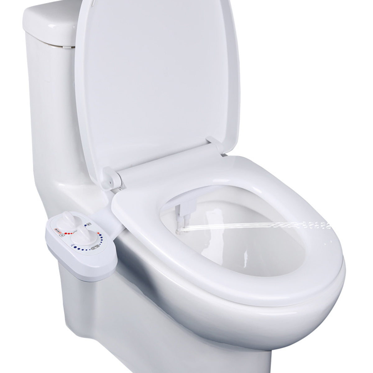 Non-Electric Toilet Seat Bidet Sprayer Attachment Washing Self-Cleaning Dual Nozzle Cold/Hot Water
