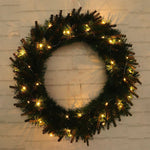 LED Light Christmas Wreath Tree Door Wall Hanging Party Garland Decorations