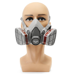 DANIU 6200 Double Gas Mask Protection Filter Chemical Half Face Respirator Mask