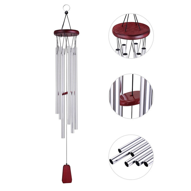Deep Tone Resonant Bass Sound Church Bell Wind Chimes Garden Home Yard Decoration Gift