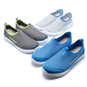 US Size 6.5-11 Men Breathable Mesh Slip On Casual Sneakers