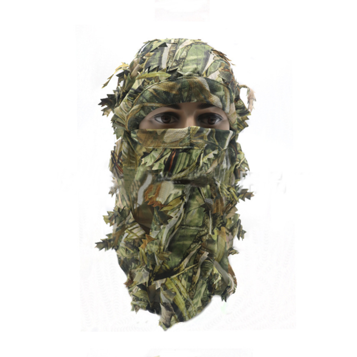 3D Leaf Camouflage Tree Full Face Mask Hood Hunting Hat Mask Army Military