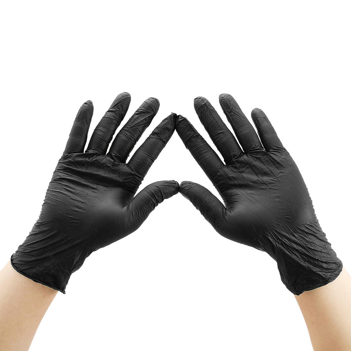 100PCS Disposable Nitrile Protective Gloves Powder-free Isolate Oil Bacteria Dust Droplets Glove Personal Health