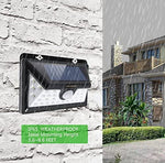 Solaridge 34 LEDs Solar Sensor Lights, Outdoor, Solar Motion Light with Wide Angle, Waterproof Solar Light and Wireless Security Lights for Wall Driveway Walkway Porch, Patio Yard Garden [2 Pack]
