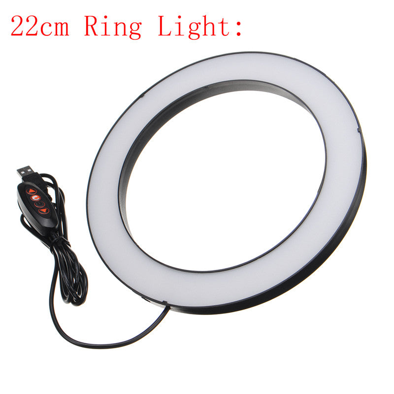 Ring Light LED Makeup Ring Lamp USB Portable Selfie Ring Lamp Phone Holder Tripod Stand Photography Lighting